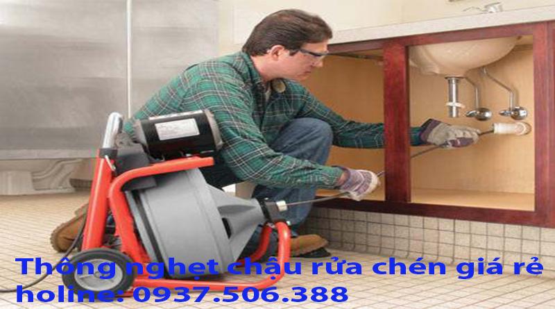 Thông nghẹt chậu rửa chén giá rẻ tại sài gòn (tphcm) hotlin 0915132170