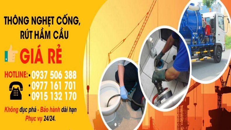 Hút hầm cầu quận 5 giá rẻ tại sài gòn (TPHCM) - 0915132170