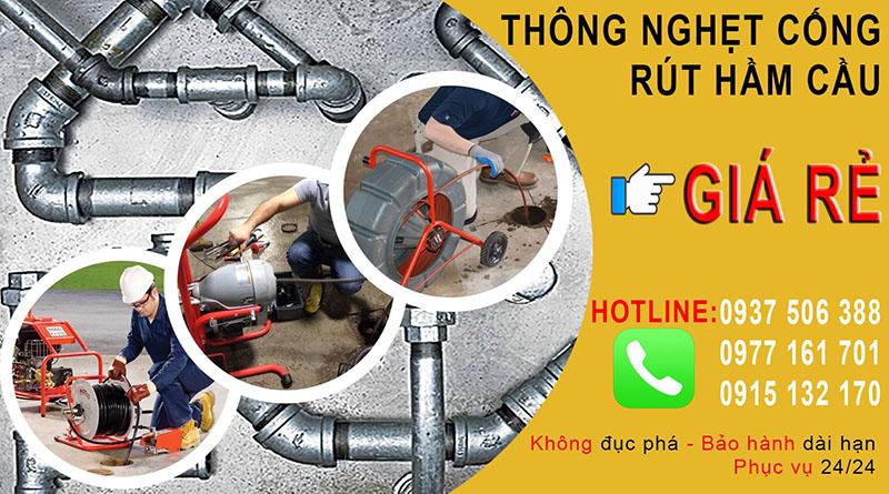 Thông cống nghẹt giá rẻ tại phường Bến Thành của quận 1-Liên hệ 0915.132.170