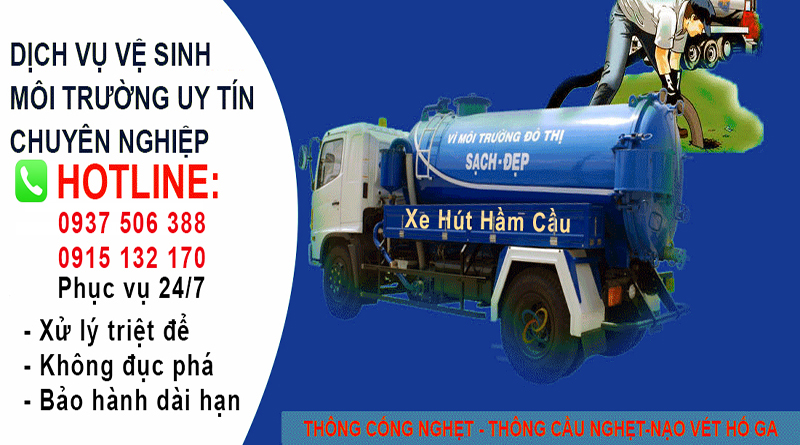 Thông cống nghẹt tại quận 1 phường Nguyễn Thái Bình chỉ 100k